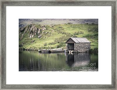 Boathouse Framed Print by Jane Rix