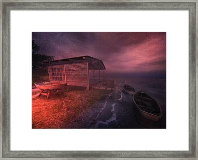 Boathouse Framed Print by Kylie Sabra