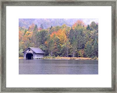 Boathouse On The Koenigsee Framed Print
