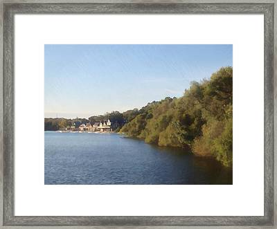 Framed Print featuring the photograph Boathouse by Photographic Arts And Design Studio