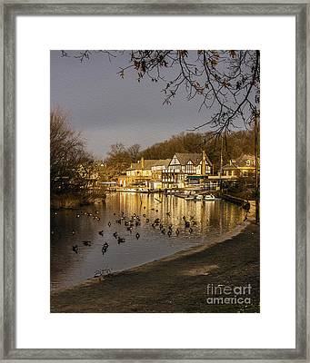 Boathouse Row At Dawn Framed Print