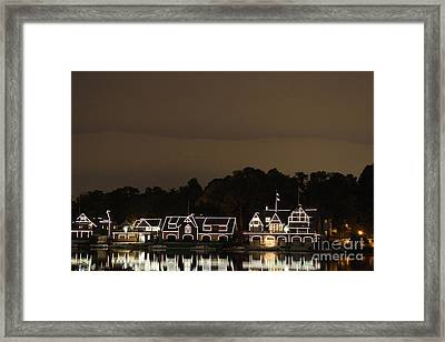 Boathouse Row Framed Print by Christopher Woods