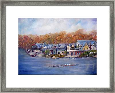 Boathouse Row In Philadelphia Framed Print by Loretta Luglio