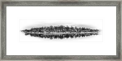Boathouse Row In Winter Framed Print by Gary Cain