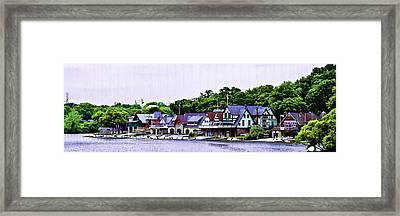 Boathouse Row Panarama Framed Print