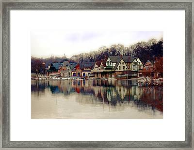 Boathouse Row Philadelphia Framed Print by Tom Gari Gallery-Three-Photography