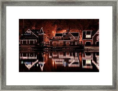 Boathouse Row Reflection Framed Print by Deborah  Crew-Johnson