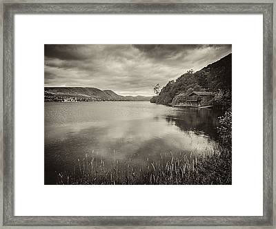 Boathouse Ullswater Framed Print by Graham Moore