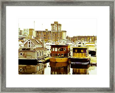 Framed Print featuring the photograph Boathouses by Eti Reid