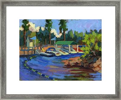 Boating At Lake Arrowhead Framed Print by Diane McClary