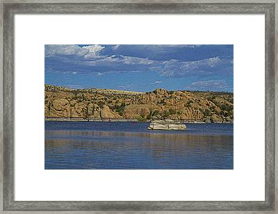 Boating At The Dells Framed Print by Tom Kelly