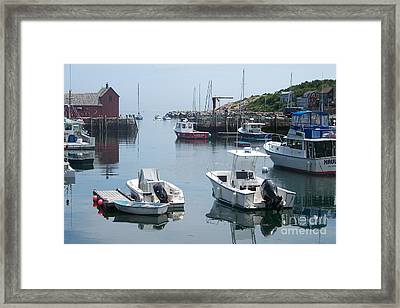 Framed Print featuring the photograph Boats On The Water by Eunice Miller