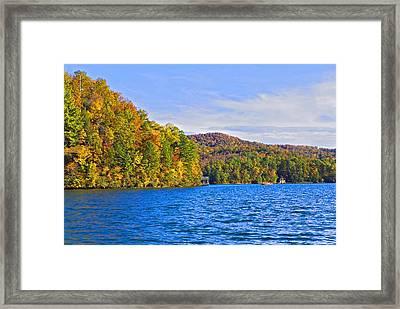 Boating In Autumn Framed Print