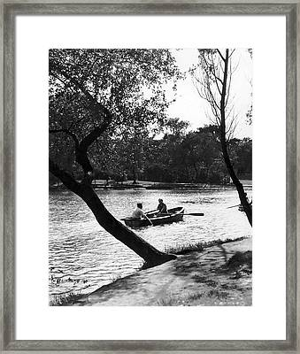 Boating In Lincoln Park Framed Print