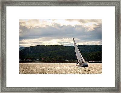 Boating In Tadoussac Framed Print
