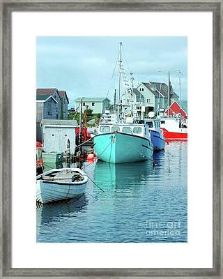 Boating In The Village Framed Print