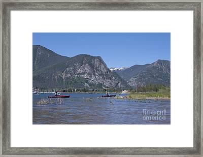Boating On Lake Dillon Framed Print by Juli Scalzi