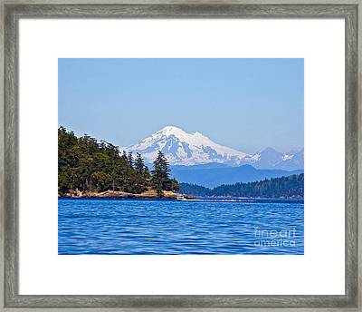Boating On Puget Sound Framed Print