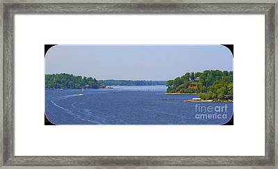 Boating On The Severn River Framed Print by Patti Whitten