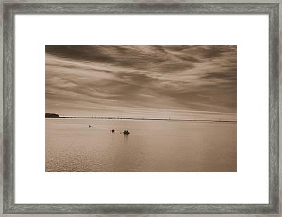 Boating On The Sound  Framed Print