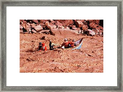 Boating The Colorado Framed Print