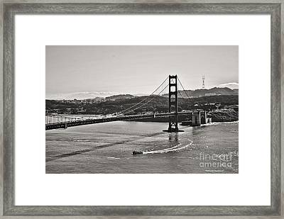 Boating Under The Golden Gate Framed Print