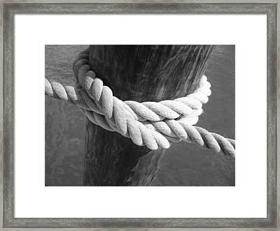 Framed Print featuring the photograph Boatman's Knot by Ellen Tully