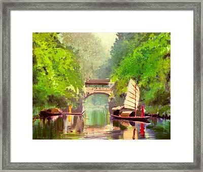 Boatmen Framed Print
