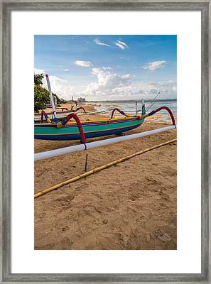 Boats - Bali Framed Print by Matthew Onheiber