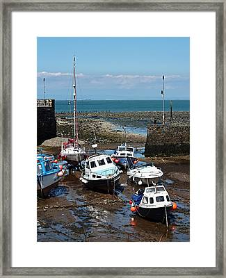 Boats Adrift Framed Print