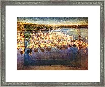 Boats All Moored Framed Print by Alice Gipson