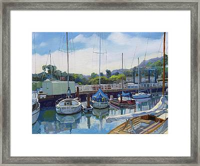 Boats And Yachts Framed Print by Dominique Amendola