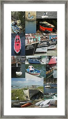 Boats Around The World Framed Print by Helen Worley