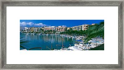 Boats At A Harbor, Majorca, Balearic Framed Print by Panoramic Images