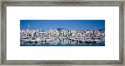 Boats At A Harbor, Puerto Banus, Costa Framed Print by Panoramic Images