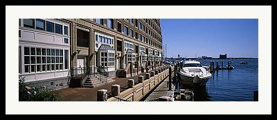 Buildings In The Harbor Photographs Framed Prints