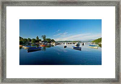 Framed Print featuring the photograph Boats At Balmaha by Stephen Taylor