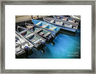 Boats At Bar Harbor Maine Framed Print