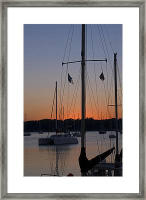 Boats At Beaufort Framed Print