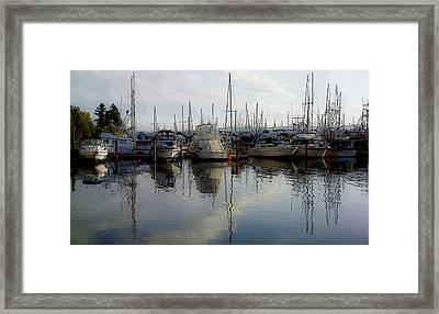 Framed Print featuring the photograph Boats At Marina On Liberty Bay by Greg Reed
