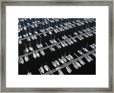 Boats At Nepean Sailing Club Framed Print by Rob Huntley