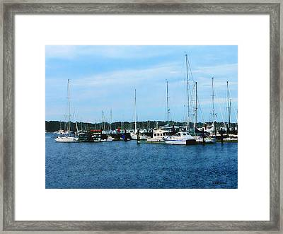 Framed Print featuring the photograph Boats At Newport Ri by Susan Savad