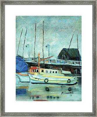 Boats At Provincetown Ma Framed Print