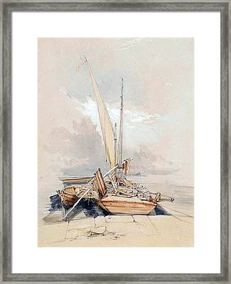 Boats At Quayside Lake Geneva Framed Print by James Holland