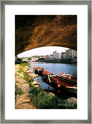 Boats At Rest Framed Print by Sandy MacNeil