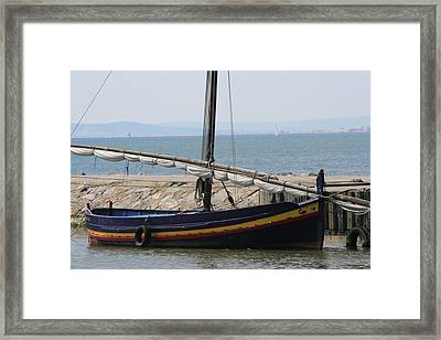 Boat At St Marie Framed Print by Phoenix De Vries