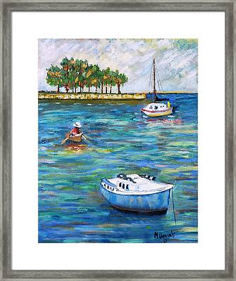Boats At St Petersburg Framed Print