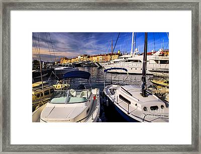Boats At St.tropez Framed Print