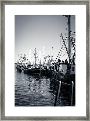 Boats At The Pier  Framed Print