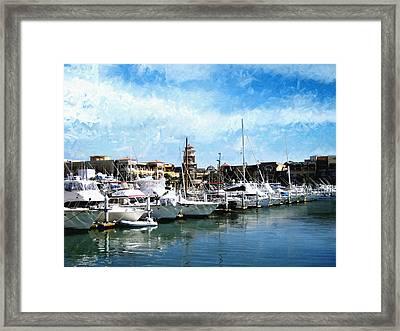 Boats Cabo San Lucas Framed Print by Ann Powell